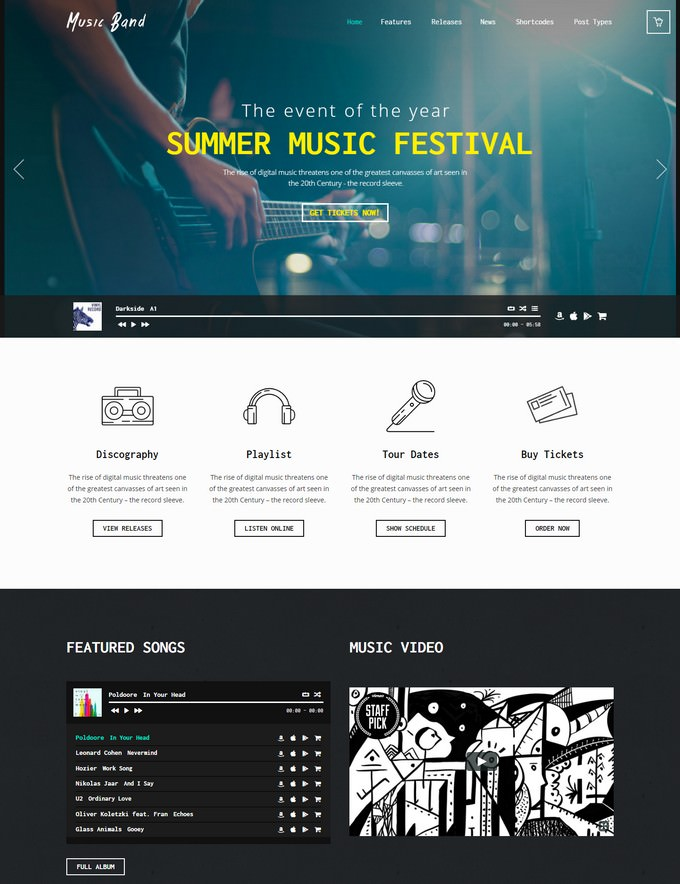 Music Band Live Event Club WordPress Theme