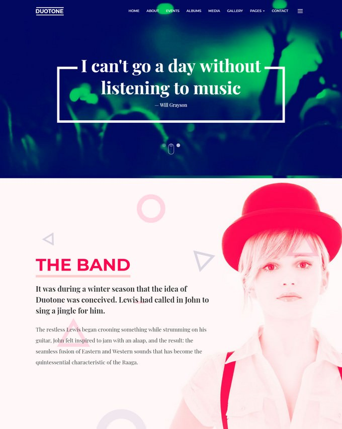 Music & Band Responsive Website Template