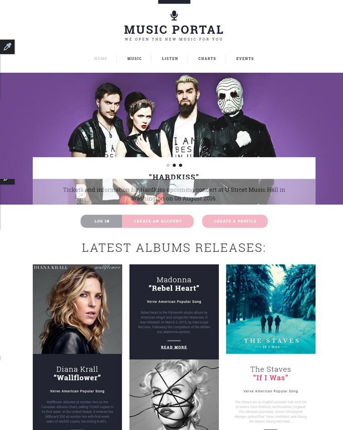 Music Portal Responsive Template