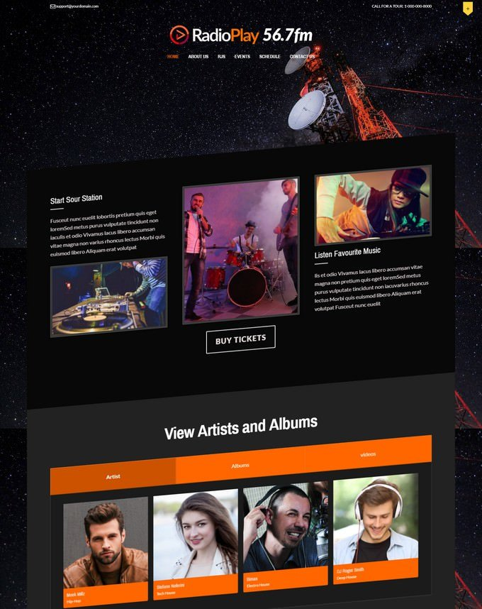 MusicPlay Responsive WordPress Theme