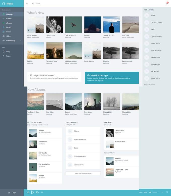 Musik Music WordPress Theme