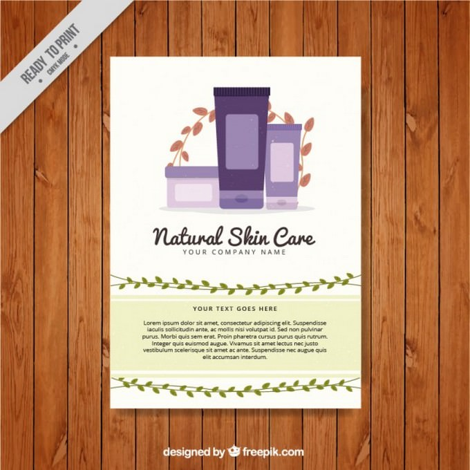 Natural Skin Care Products Flyer