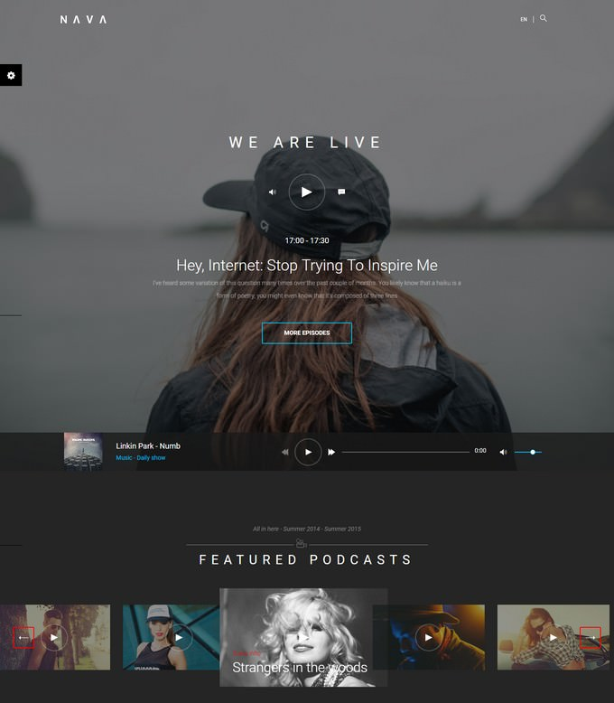 Nava Ultimate Multimedia HTML Template