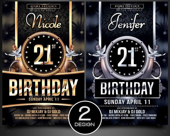Nicole Birthday Flyer Template