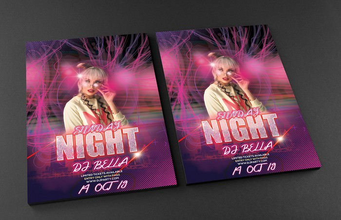 Night Dj Party Flyer Free