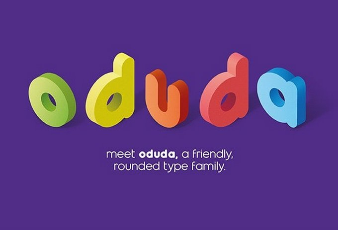 Oduda - Rounded Font