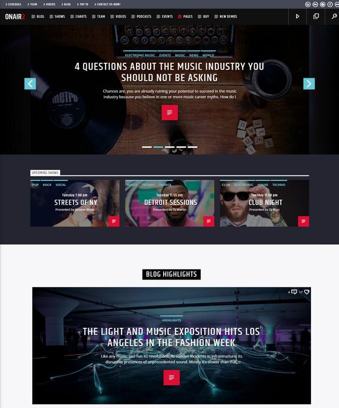 Onair2 Radio WordPress Theme