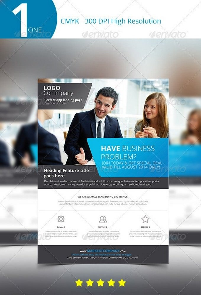 One Company Flyer Template