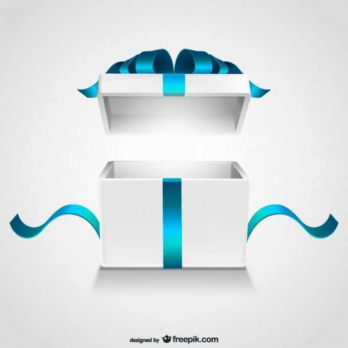 Open Gift Box PSD