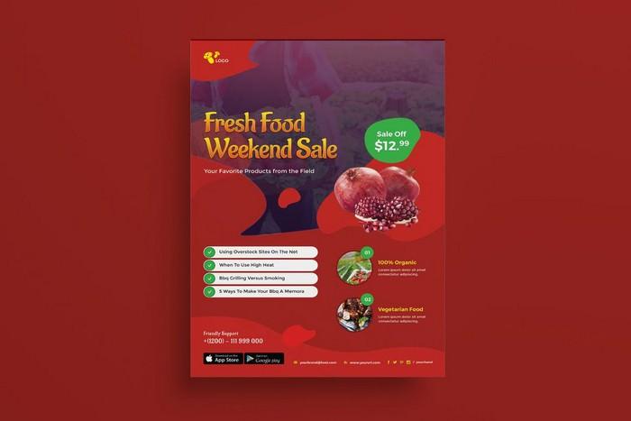 Organic Food Restaurant Flyer