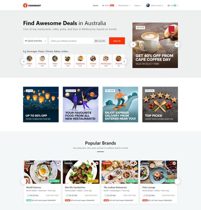 Online Food Ordering Website HTML Template