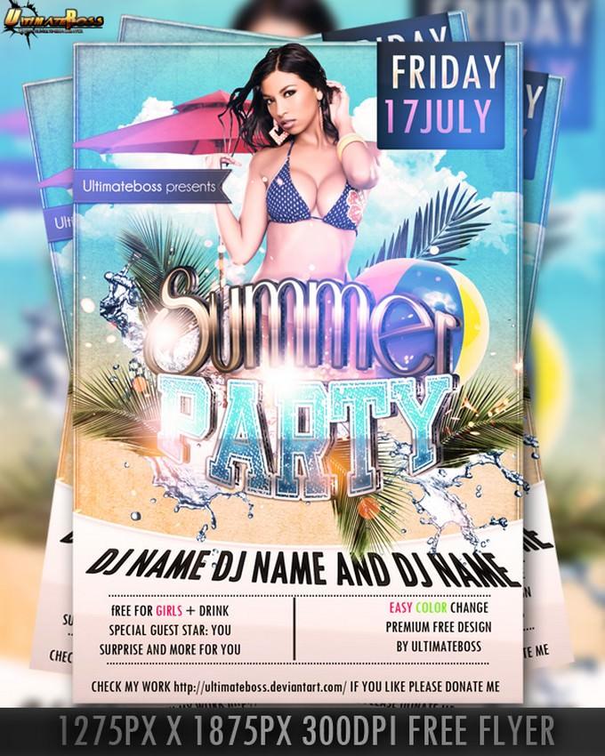 Premium Free Summer Flyer