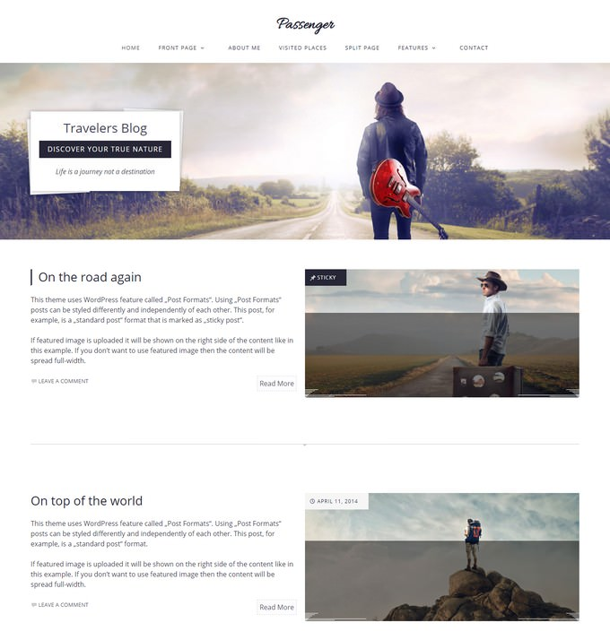 Travelers WordPress Theme