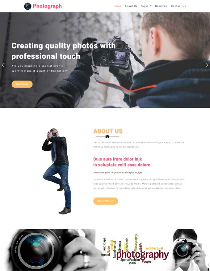 Photograph Responsive Web Template