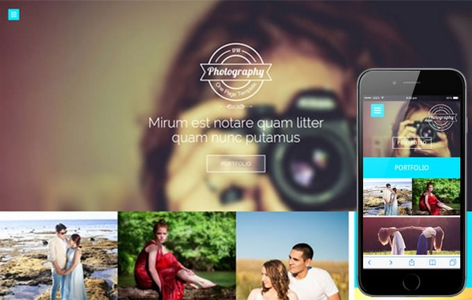 Photographers Responsive Web Template