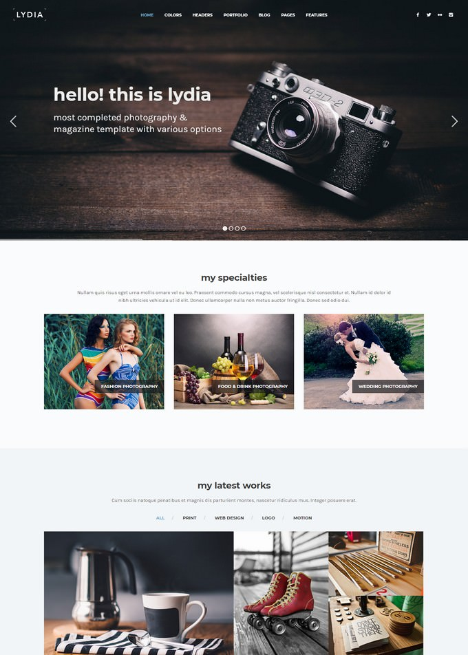 Lydia Photography Template