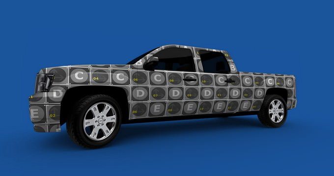 PickUp Truck MockUp PSD