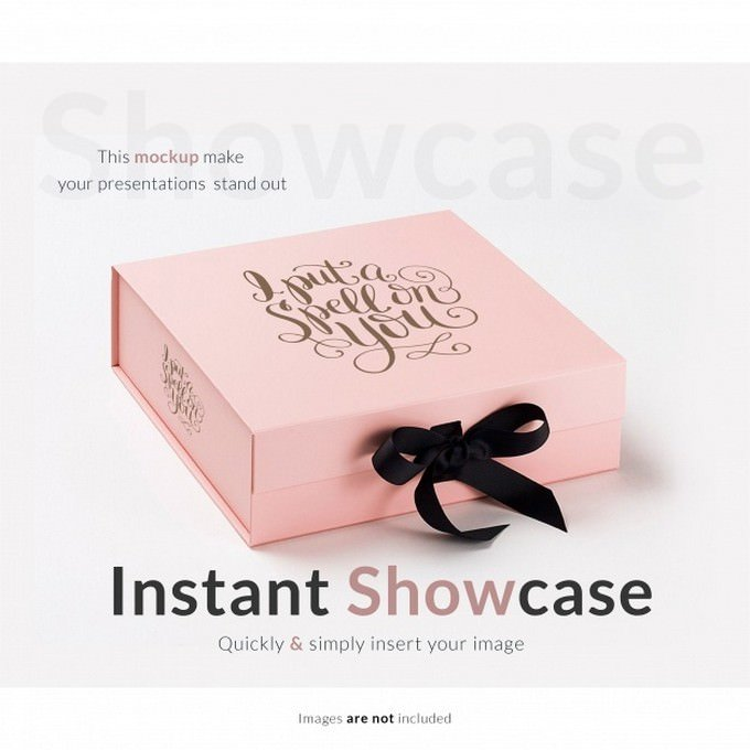 Pink Gift Box Mock-up