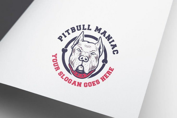 Pitbull Logo Template