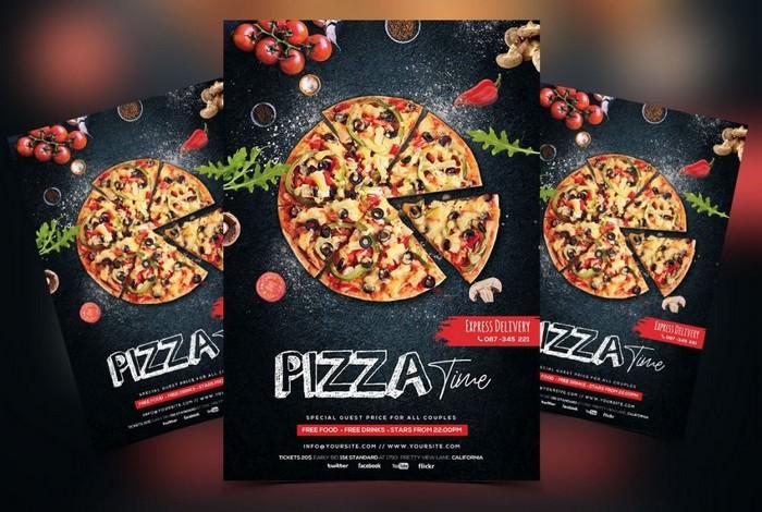 Pizza Restaurant Free PSD Flyer