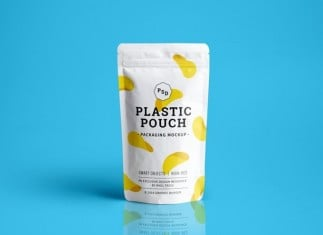 Plastic Pouch Packaging MockUp PSD