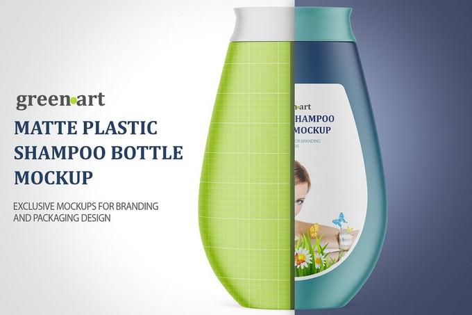 Plastic Shampoo Bottle PSD