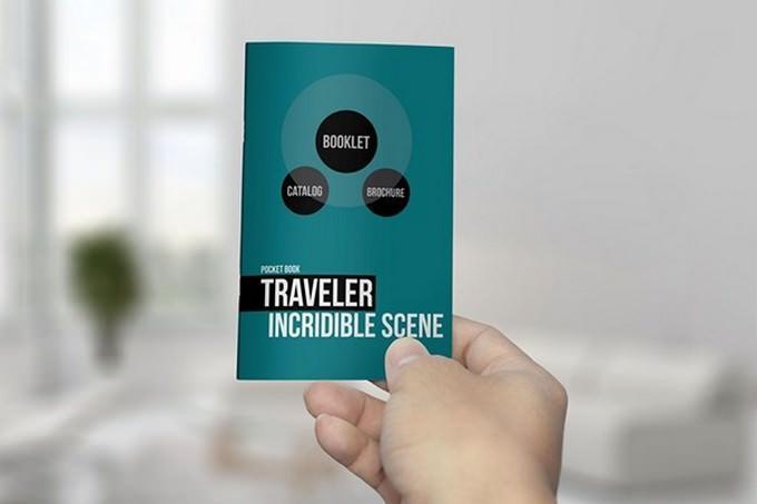Pocket Booklet Catalog Mockup