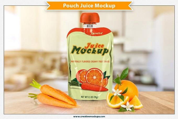 Pouch Juice Mockup PSD