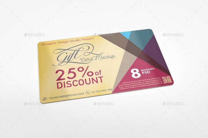 Professional Gift Card Mockup PSD
