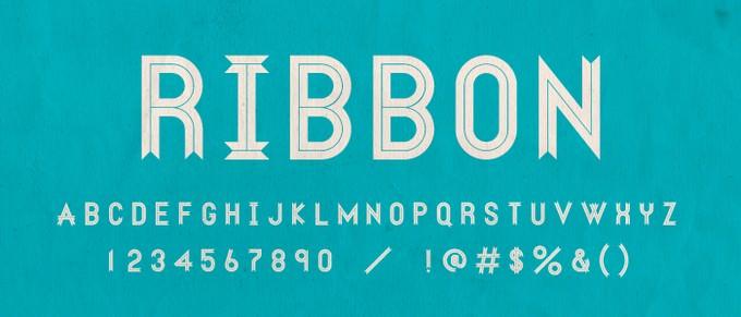 RIBBON Font