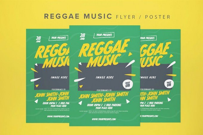 Reggae Music Party PSD