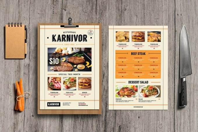 Restaurant Flyer Menu Template