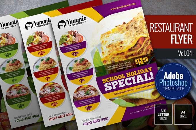 Restaurant Flyer PSD