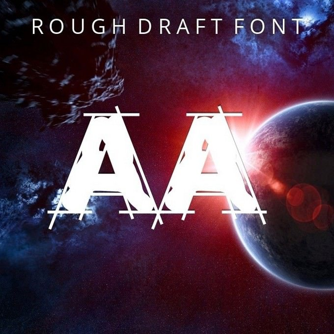 Rough Draft Font