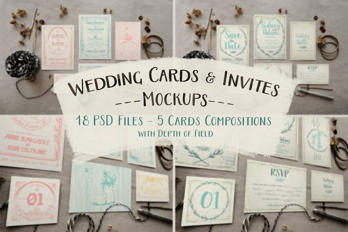 Rustic Wedding Invitation PSD
