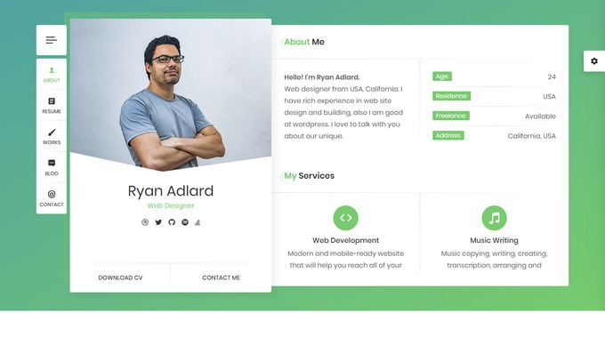 Ryan CV Resume Theme