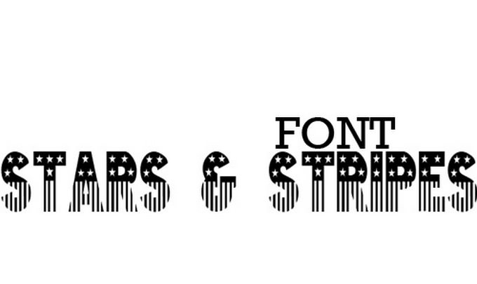 STAR And STRIPES Font