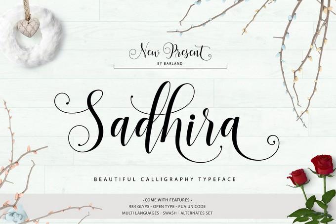 Sadhira Script Font