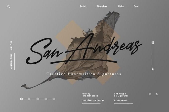 San Andreas Signature Font