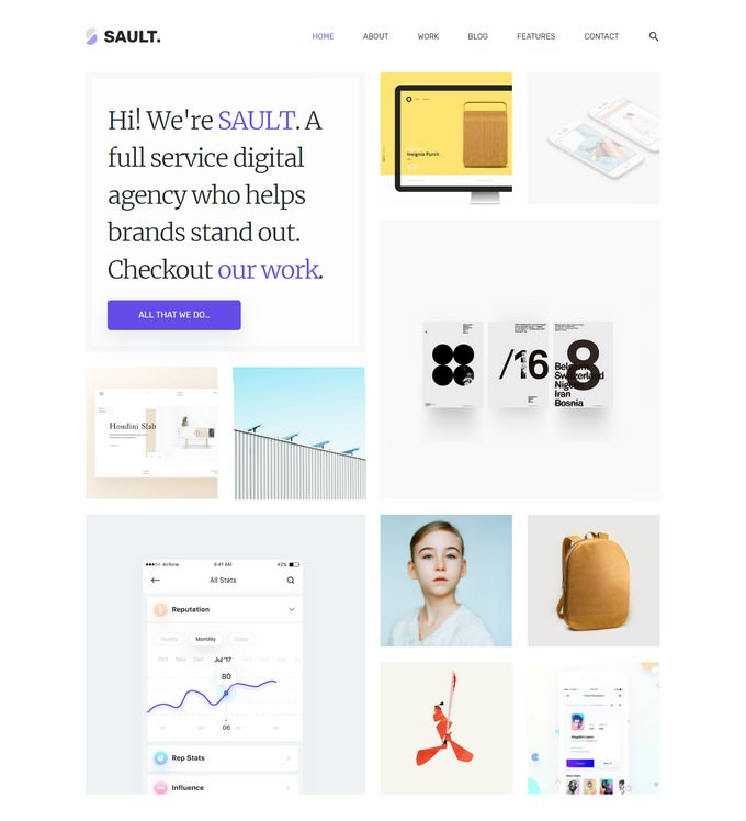 Creative HTML5 Template for Agencies
