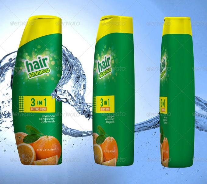 Shampoo Bottle Mockup PSD