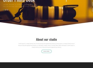 Shoot Photography Website Template