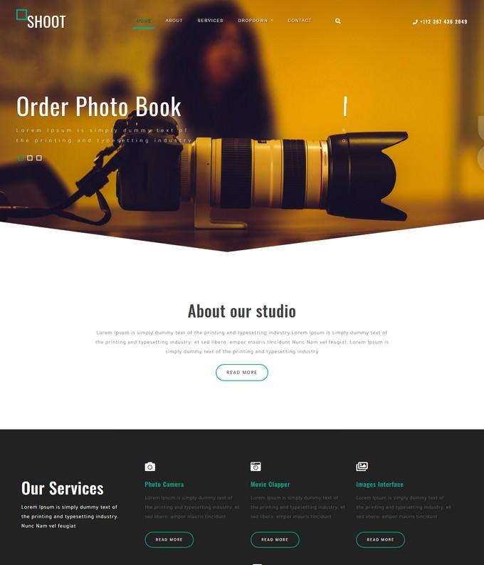 Shoot Photography Website Template