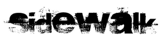 Sidewalk Font