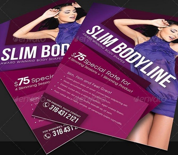 Slimming Beauty and Cosmetic Template