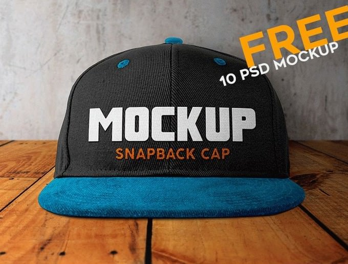Snapback Cap 10 Free PSD Mockups
