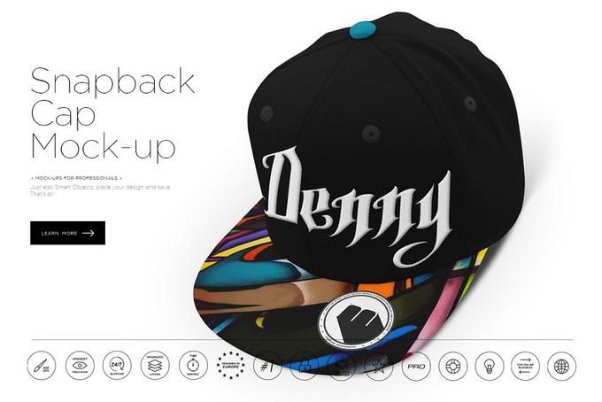 Snapback Cap Mockup PSD