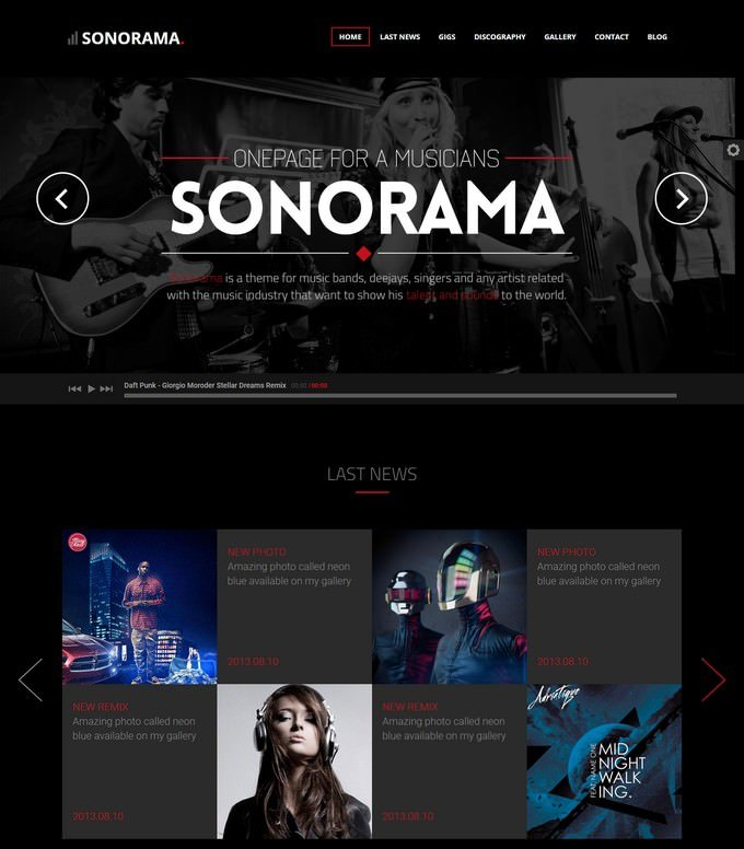 Sonorama Music Template