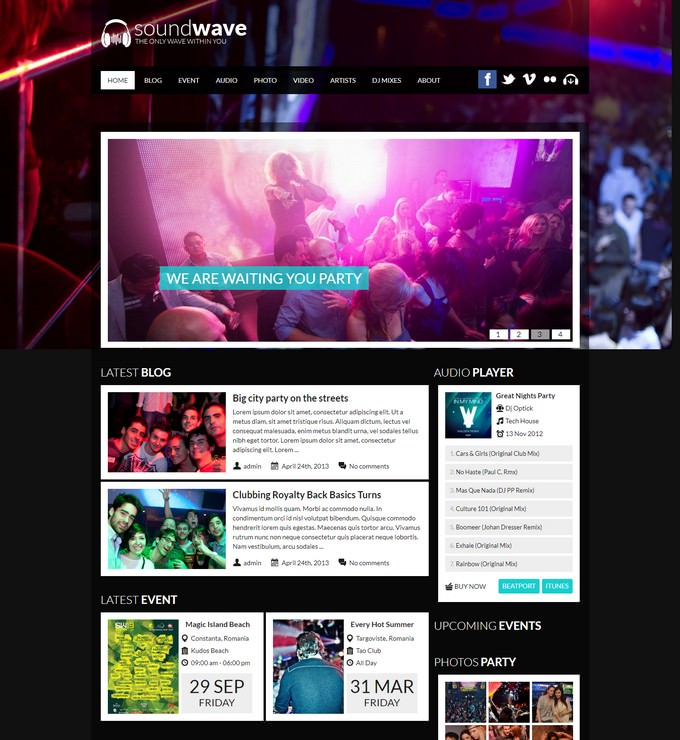 SoundWave Music Vibe WordPress Theme