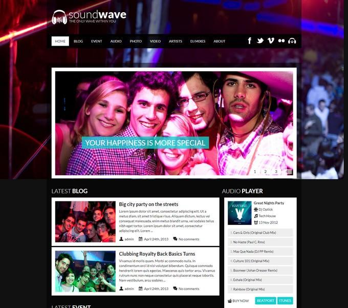SoundWave Music Vibe WordPress Theme